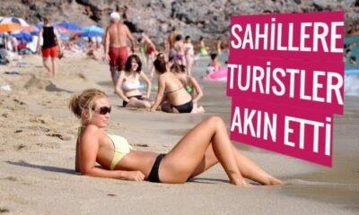 Sahillere turist akını