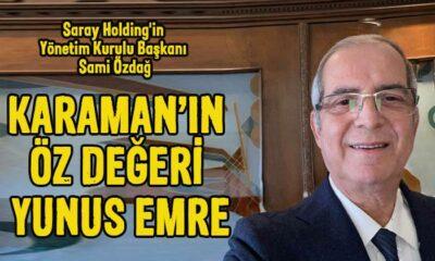 """Sami Özdağ """"Karaman'ın Öz Değeri Yunus Emre"""" şiirini yazdı"""