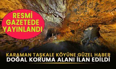 Karaman Taşkale köyüne güzel haber