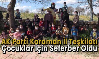 AK Parti Karaman teşkilatı çocuklar için seferber oldu