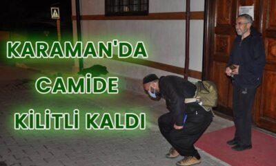 Karaman'da camide kilitli kaldı