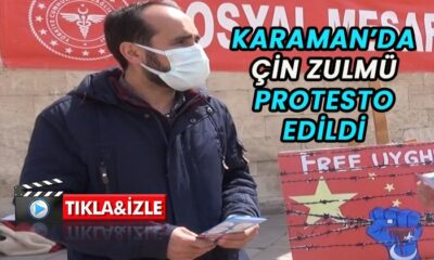 Karaman'da Çin zulmü protesto edildi