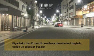 Diyarbakır'da 82 saatlik kısıtlama denetimleri başladı, cadde ve sokaklar boşaldı