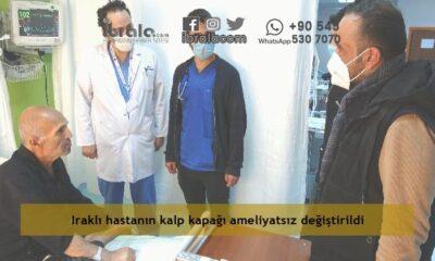 Iraklı hastanın kalp kapağı ameliyatsız değiştirildi