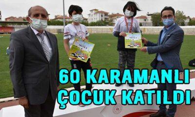 60 Karamanlı çocuk katıldı