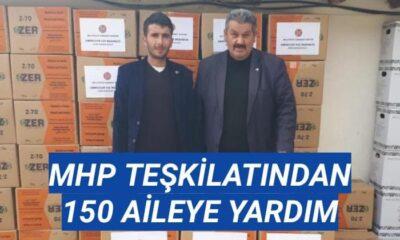 MHP teşkilatından 150 aileye yardım