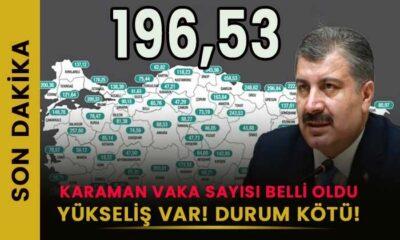 SON DAKİKA Karaman korona vaka sayıları açıklandı