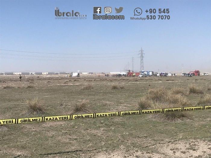 SON DAKİKA Konya'da Uçak Düştü
