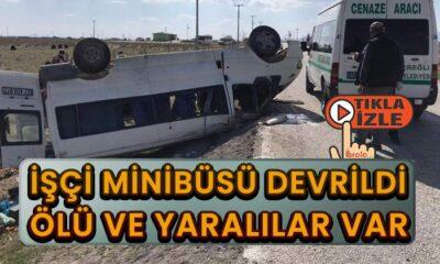 Minibüs kaza yaptı! Ölü ve yaralılar var!