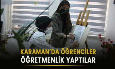 Karaman'da öğrenciler öğretmen oldular