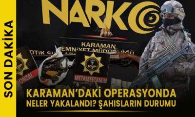 Karaman'daki şafak operasyonunda neler yakalandı?