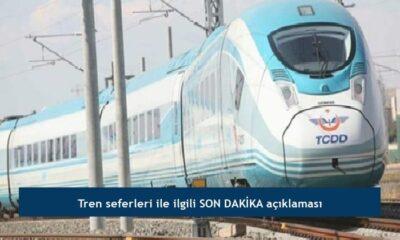 Tren seferleri ile ilgili SON DAKİKA açıklaması