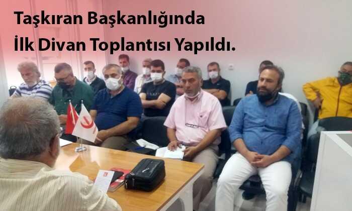 Yeniden Refah Partisi İl Başkanı ataması yapılmasından sonra ilk divan toplantısını yaptı