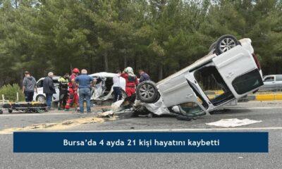 Bursa'da 4 ayda 21 kişi hayatını kaybetti
