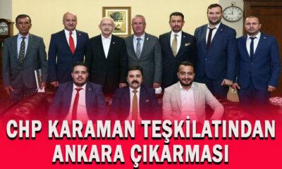 CHP Karaman teşkilatından Ankara çıkarması