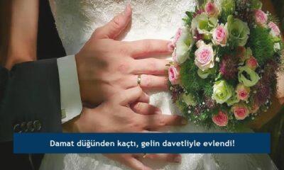 Damat düğünden kaçtı, gelin davetliyle evlendi!