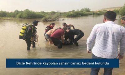 Dicle Nehrinde kaybolan şahsın cansız bedeni bulundu