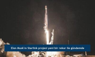 Elon Musk'ın Starlink projesi yeni bir rekor ile gündemde
