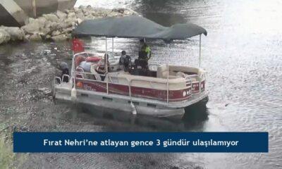 Fırat Nehri'ne atlayan gence 3 gündür ulaşılamıyor
