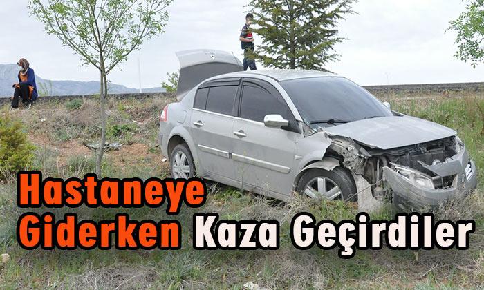 Karaman'dan hastaneye giderken kaza geçirdiler