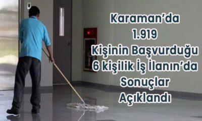 Karaman'da bin 919 kişinin katıldığı iş ilanının kurası belli oldu