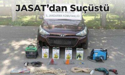 Kiraladığı araç ile köylerde hırsızlık yaptığı iddia  edilen şahıs yakalandı