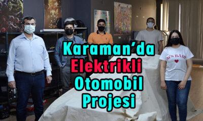 Karaman'da elektrikli otomobil projesi