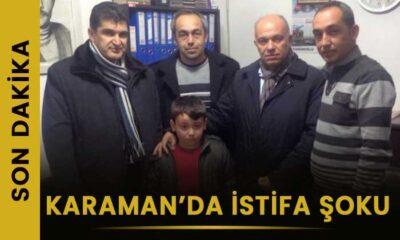 SON DAKİKA Karaman'da istifa şoku