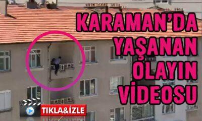 Karaman'da vatandaş canına kıymak istedi
