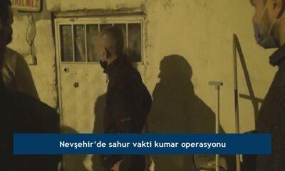 Nevşehir'de sahur vakti kumar operasyonu