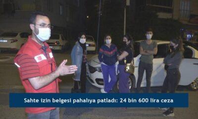 Sahte izin belgesi pahalıya patladı: 24 bin 600 lira ceza