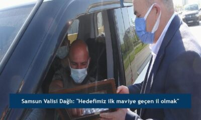 """Samsun Valisi Dağlı: """"Hedefimiz ilk maviye geçen il olmak"""""""