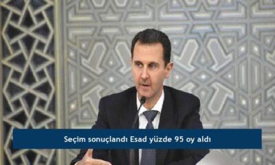 Seçim sonuçlandı Esad yüzde 95 oy aldı