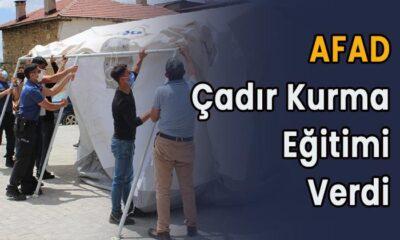 AFAD çadır kurma eğitimi verdi