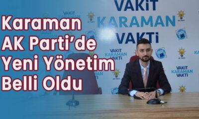 Karaman AK Parti'de yeni yönetim belli oldu