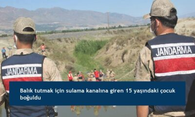 Balık tutmak için sulama kanalına giren 15 yaşındaki çocuk boğuldu