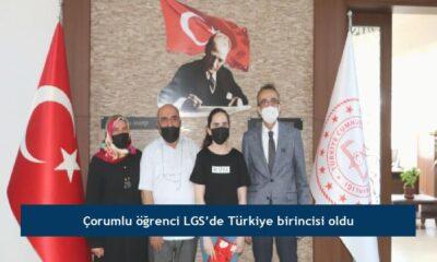 Çorumlu öğrenci LGS'de Türkiye birincisi oldu