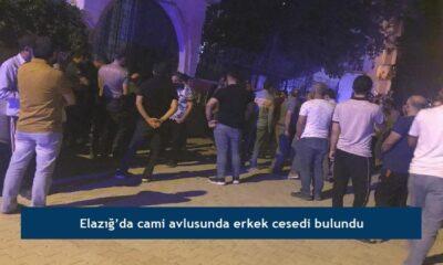 Elazığ'da cami avlusunda erkek cesedi bulundu