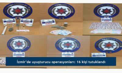 İzmir'de uyuşturucu operasyonları: 16 kişi tutuklandı
