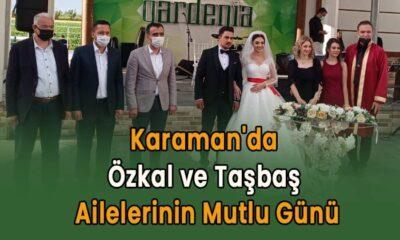 Karaman'da Özkal ve Taşbaş ailelerinin mutlu günü