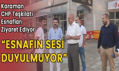 CHP Karaman teşkilatı esnafları ziyaret ediyor