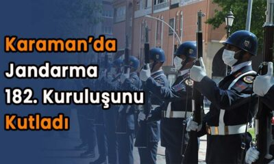 Karaman'da Jandarma 182. kuruluşunu kutladı