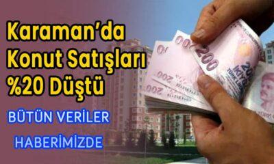 Karaman'da konut satışları %20 düştü