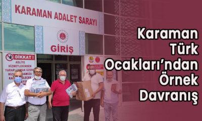 Karaman Türk Ocakları'ndan örnek davranış