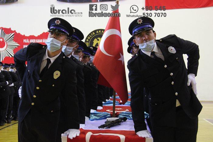 260 polis adayı için tören düzenlendi.