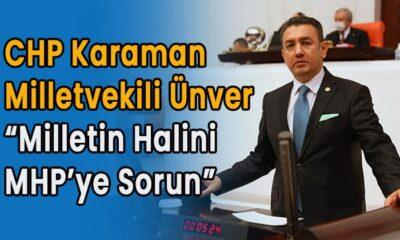 "Karaman  Milletvekili ""Milletin halini MHP'ye sorun"""