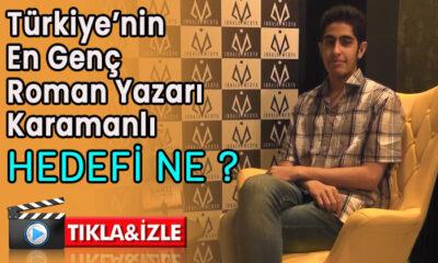 Türkiye'nin en genç roman yazarı Karamanlı