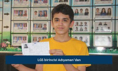LGS birincisi Adıyaman'dan