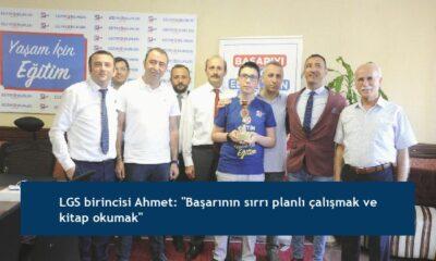 """LGS birincisi Ahmet: """"Başarının sırrı planlı çalışmak ve kitap okumak"""""""