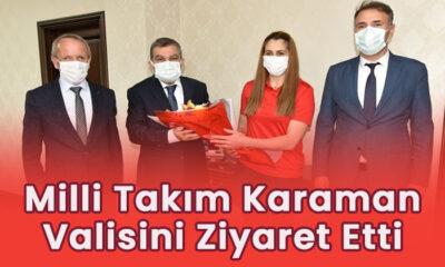 Milli Takım Karaman Valisi'ni ziyaret etti